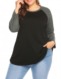 2be107a993c Outerwear Womens Plus Size Long Sleeve Raglan T-Shirt Tunic Blouse Top